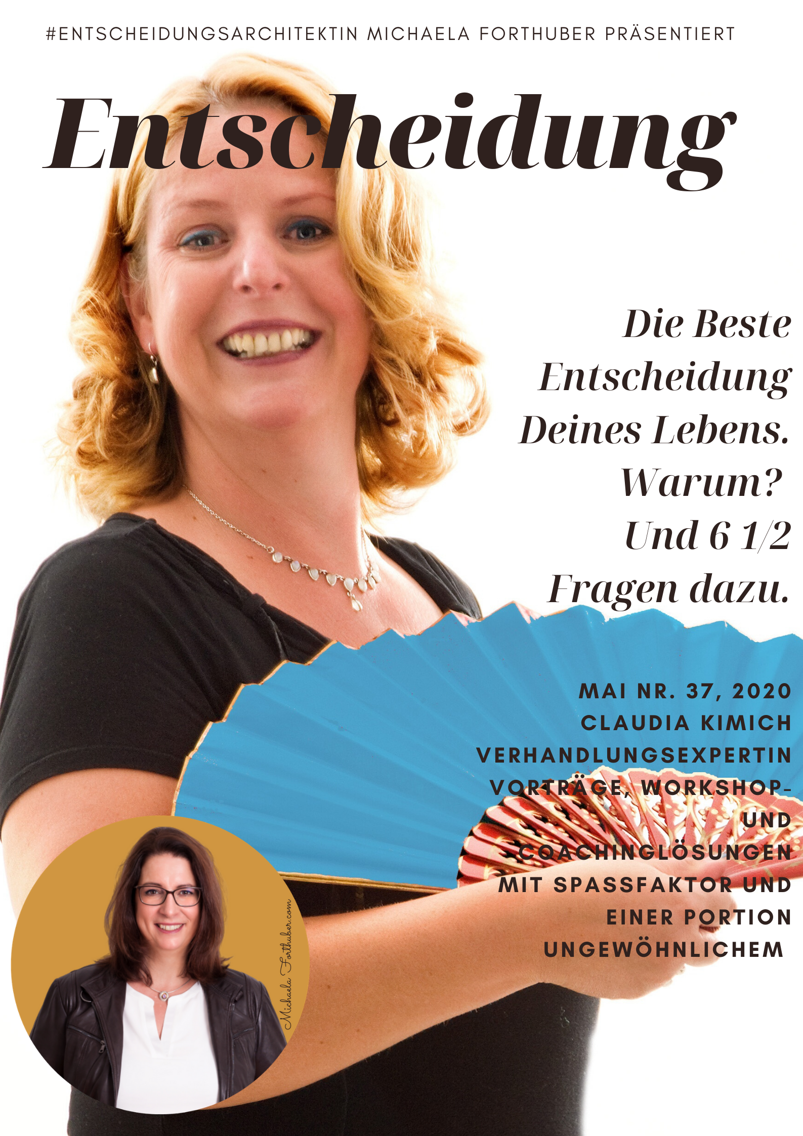 Blog Interview Entscheiden Cover Interview Michaela Forthuber #Entscheidungsarchitetkin mit Claudia Kimich