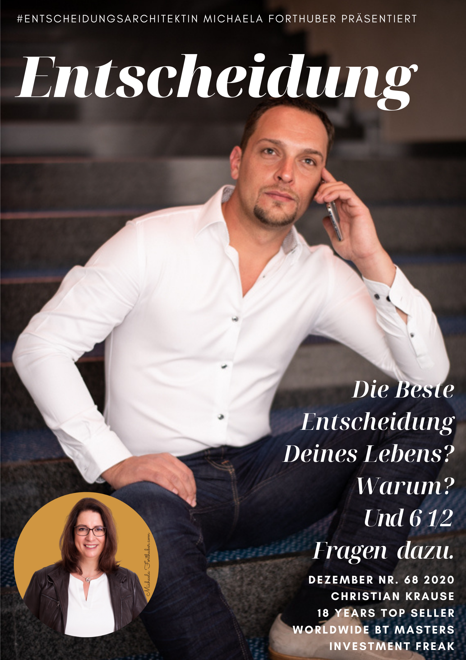 Blog Interview Entscheiden Cover Michaela Forthuber #Entscheidungsarchitektin mit Christian Krause