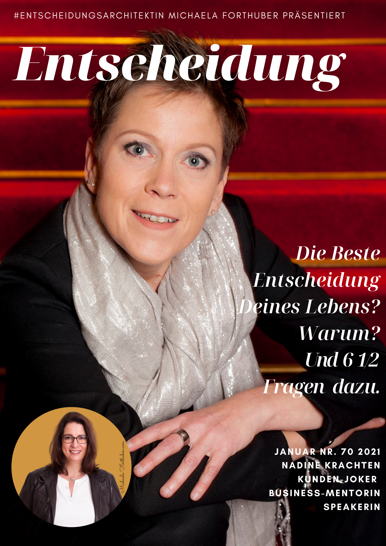 Blog Interview Entscheiden Cover Michaela Forthuber Interview Blog Nadine Krachten #Entscheidungsarchitektin