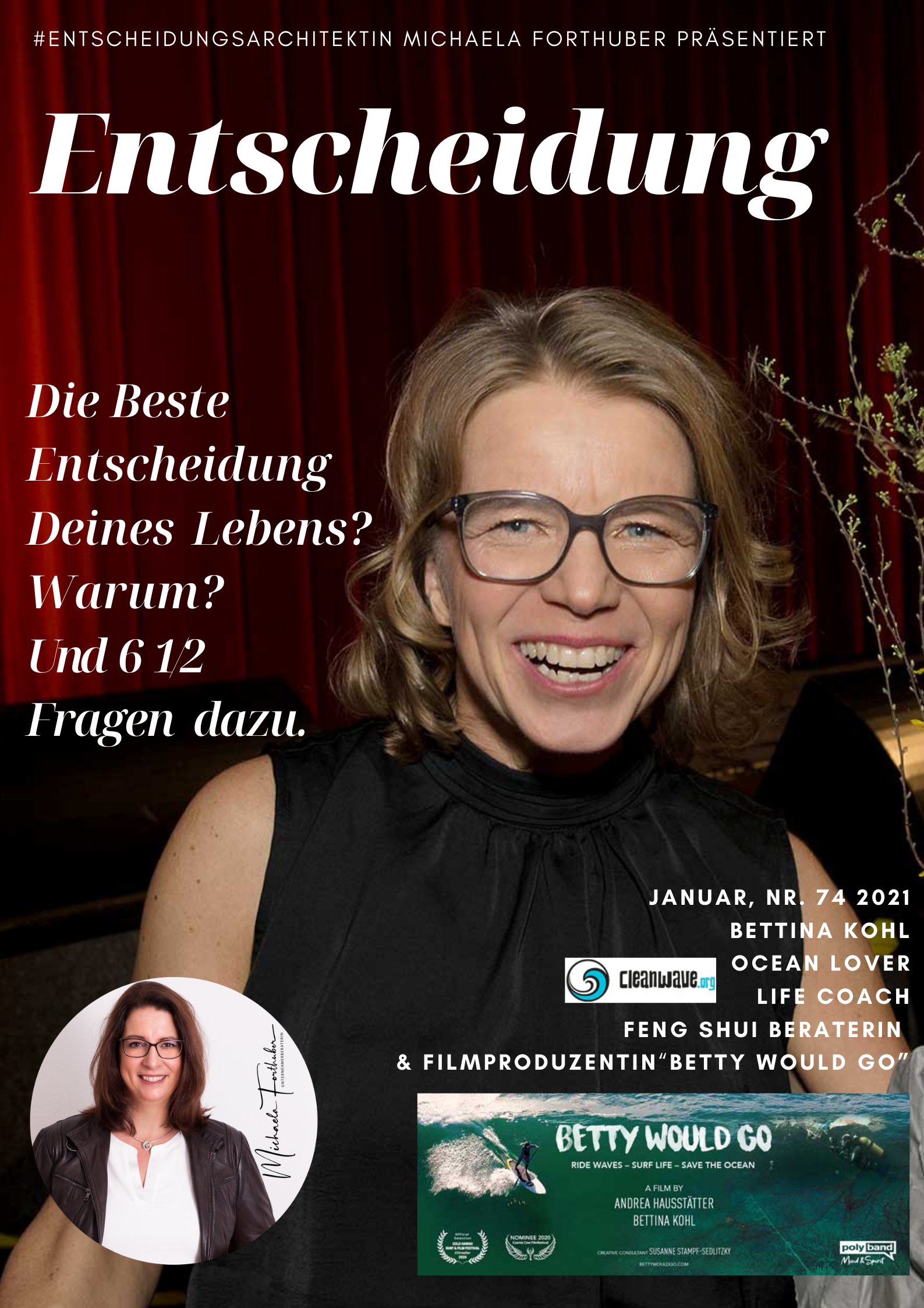Blog Interview Entscheiden Cover Michaela Forthuber #Entscheidungsarchitektin mit Bettina Kohl